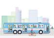 Öffentlicher Bus Verkehrsmittel Illustration