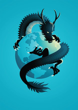 Chinese Dragon Encircling The ...