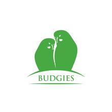 Budgerigars Symbol - Budgies - Vector Illustration - Vector