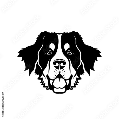 Bernese mountain dog - isolated vector illustration - Vector Wallpaper Mural