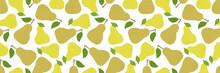 Pear Seamless Pattern. Long Ba...