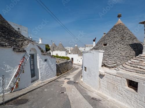 Photo Italy, april 2019: Alberobello is a small town and comune of the Metropolitan City of Bari