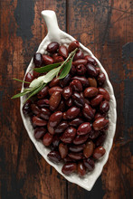 Pitted Kalamata Olives In Bowl...