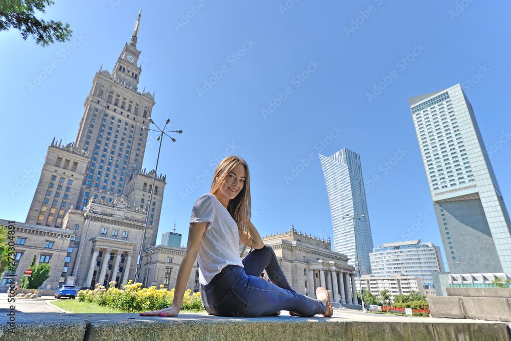 Fototapety, obrazy: PKiN, Warszawa, Polska