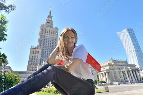 Fototapeta PKiN, Warszawa, Polska obraz