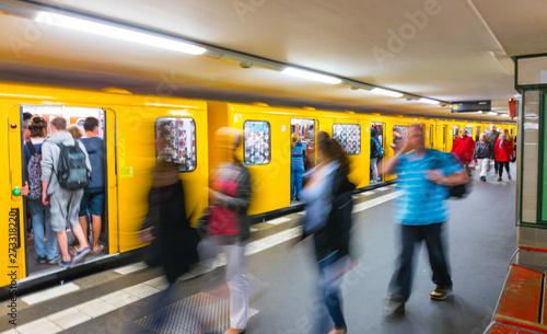 Underground station, Berlin, Germany, Europe