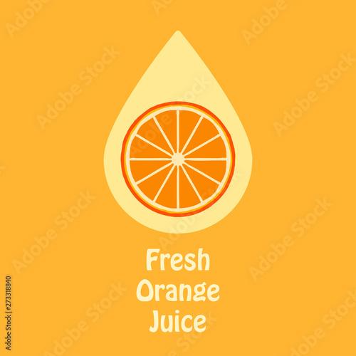 Orange juice logo yellow concept - Buy this stock vector and
