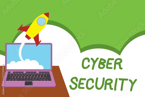 Text sign showing Cyber Security  Business photo showcasing Protect