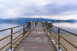 Beautiful scenery of Loch Lomond in Luss at the pier , Scotland
