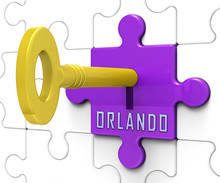 Orlando Home Real Estate Key Depicts Florida Realty And Rentals - 3d Illustration