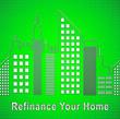 Leinwandbild Motiv Refinance Your Home Cityscape Representing Home Equity Line Of Credit - 3d Illustration