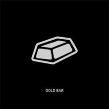 White Gold Bar Vector Icon On ...