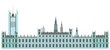 The Palace of Westminster in London icon, isolated on white,flat design.For websites and mobile applications. The Image Is Vector.