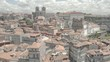 The city of Porto in Portugal, 4k aerial skyline drone ungraded/flat raw footage