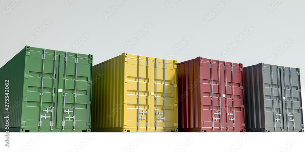 Fototapety, obrazy: cargo containers isolated on white