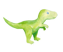 Cute Watercolor Dinosaur. Wate...