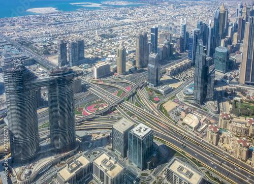 Tuinposter Dubai aerial view