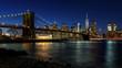Brooklyn bridge at night (New York, USA)