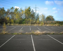 Abandoned Car Park Of Steelwor...