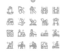 Massage Salon Well-crafted Pixel Perfect Vector Thin Line Icons 30 2x Grid For Web Graphics And Apps. Simple Minimal Pictogram