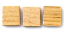 Three Scrabble Blank Board Game Tiles