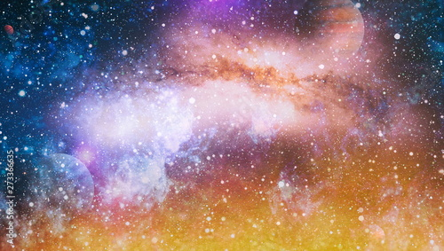 Spoed Foto op Canvas Heelal planets, stars and galaxies in outer space showing the beauty of space exploration. Elements furnished by NASA
