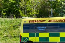 Emergency Ambulance Van On Uk Motorway In Fast Motion