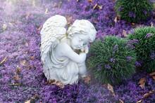 Engel Mit Lichtstrahl, Symbol Der Hoffnung Und Des Friedens