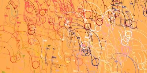 Abstract modern artwork. 2d illustration.