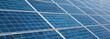 Leinwandbild Motiv solar panels photovoltaic, alternative electricity source, banner size