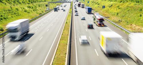 Fotografiet  Highway traffic in germany