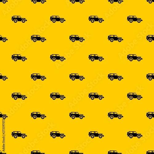 Cuadros en Lienzo Jeep pattern seamless vector repeat geometric yellow for any design