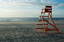 Lifeguard Chair At Jacksonville Beach Horizontal