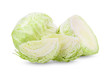 cabbage isolated on white background. full depth of field