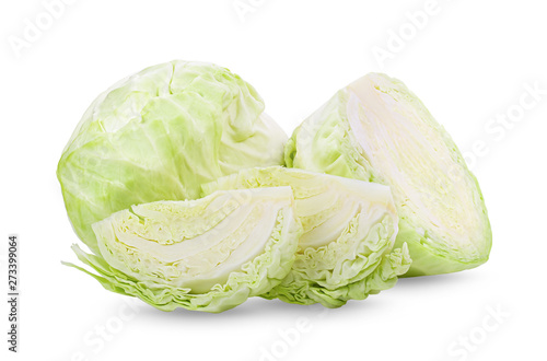 Obraz cabbage isolated on white background. full depth of field - fototapety do salonu