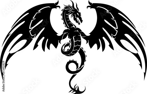Fototapeta Dragon Crest Wings