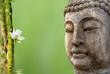 statue de Bouddha et composition aquatique zen