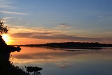 Delaware River In Golden Hour