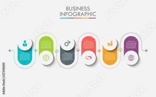 Business data visualization Wallpaper Mural