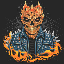 SKULL PUNK HEAD WITH JACKET, F...
