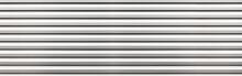 Panorama Of White Metal Sheet Pattern And Background Seamless