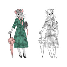Humanized Rat Lady Woman With ...