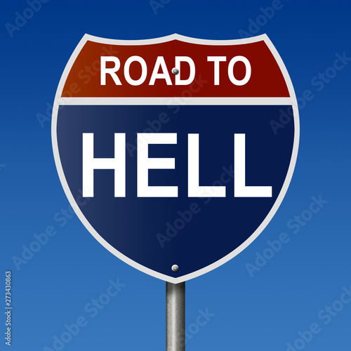 фотография Road to Hell Highway Sign