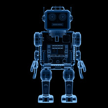 X-ray Robot Tin Toy