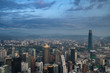 A panorama of Kuala Lumpur at sunset
