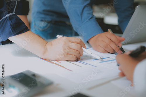 Fototapety, obrazy: financial adviser discussing with investor. business people have a meeting. businessman working with team