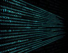 Digital Set Of 1 And 0. Encrypted, Secret Computer Information From Symbols To Encode.  Background, Computer Technology, Matrix On A Black Background For Design. Illustration