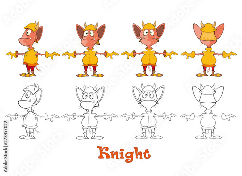 Montage in der Fensternische Babyzimmer Vector Illustration of a Cute Cartoon Character Ghost for you Design and Computer Game. Coloring Book Outline Set