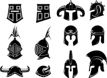 Medieval Helm Front And Side V...