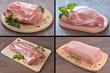 Leinwandbild Motiv mięso wieprzowe - zestaw